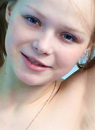 Cute amateur teen posing