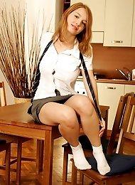 Naughty schoolgirl is not so innocent