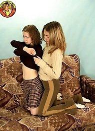 Teen girls posing naked